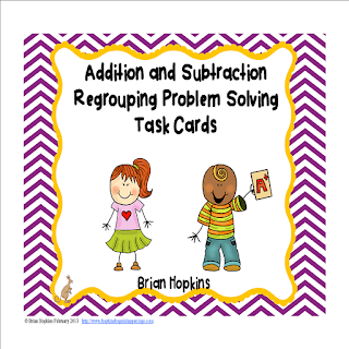 Addition and Subtraction Regrouping Problem Solving Task Cards