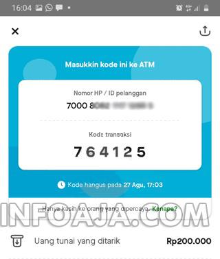 kode transaksi gopay