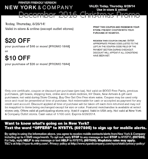 New York And Company coupons december 2016