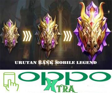 Urutan Rank Mobile Legend