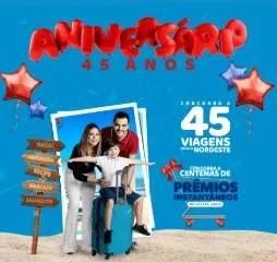 Cadastrar Promoção 45 Anos Lopes Supermercados