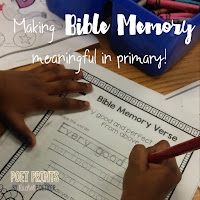Bible Memory made easy with no prep packets