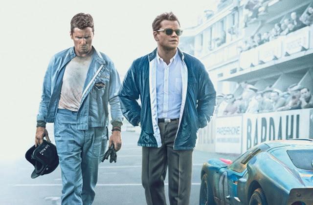 "Christian Bale e Matt Damon querem esmagar a Ferrari no 2º trailer de ""Ford vs Ferrari"""