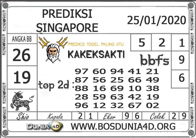 PREDIKSI TOGEL SINGAPORE DUNIA4D 25 JANUARI 2020