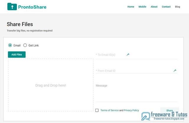 ProntoShare : partagez des fichiers sans limites