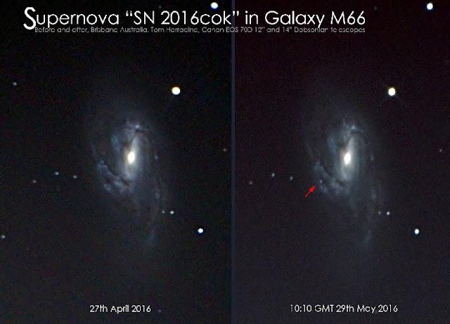 Sebuah Bintang Meledak Ditemukan di Galaksi M66 - Info