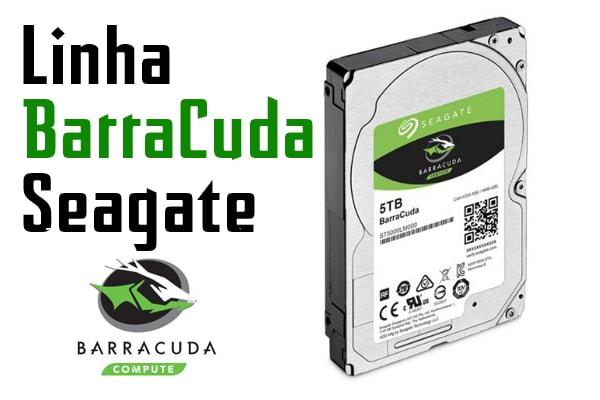 HD seagate linha barracuda com 5 TB e 2.5 polegadas