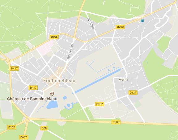 Castillo de Fontainbleau, mapa