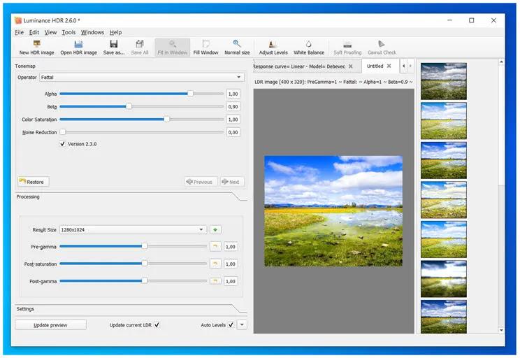 Luminance HDR : Δημιουργήστε φωτογραφίες υψηλής δυναμικής περιοχής (HDRI ή HDR)