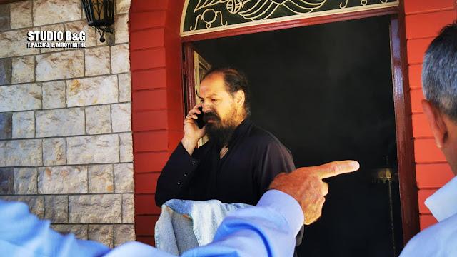 Ναύπλιο: Ιερέας άφησε την Θεία Λειτουργία για να σβήσει πυρκαγιά