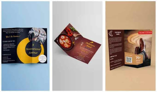 cara membuat pamflet di brochure maker