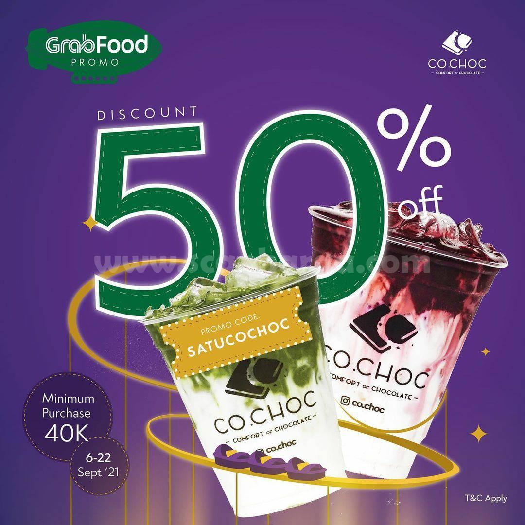 Promo CO.CHOC DISKON hingga 50% via GRABFOOD