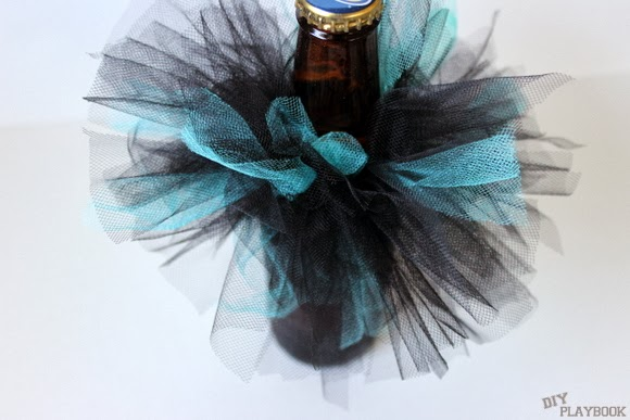 Bachelorette Beer Bottles - check out how simple it is to make your beer festive!