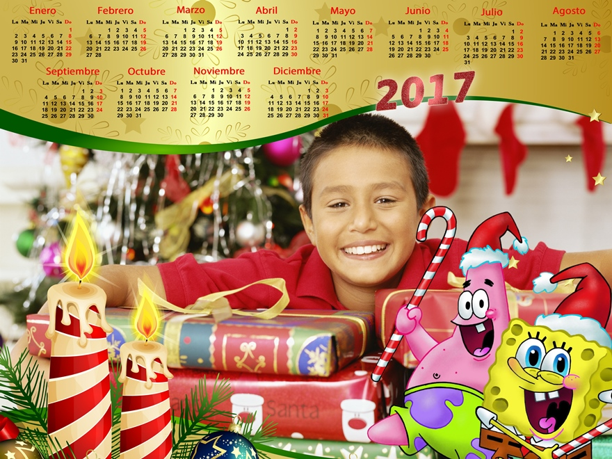 Recursos Photoshop Llanpac Calendario del 2017 para Navidad de Bob