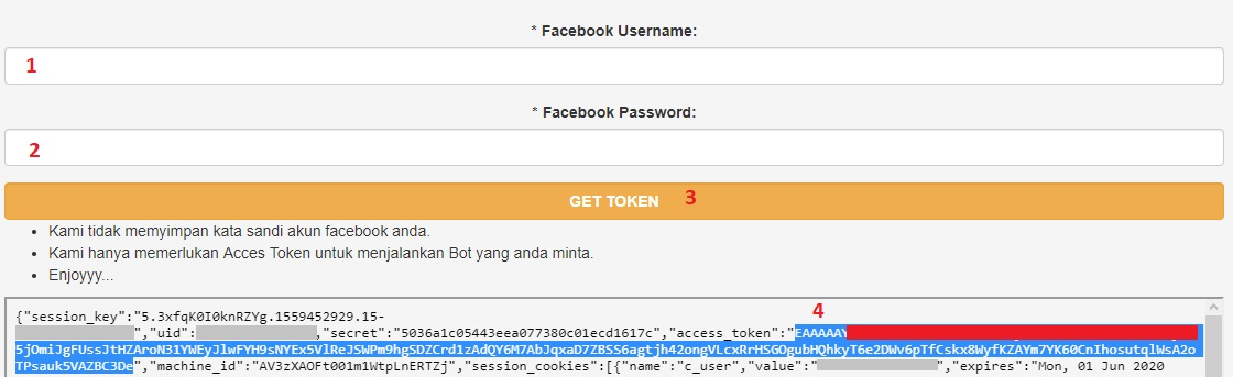Get Access Token Facebook