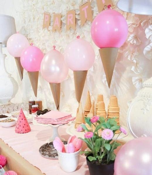 101 fiestas ideas para una fiesta tem tica de helados - Decoracion de helados ...