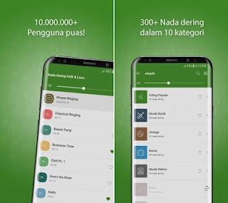 Sistem operasi Android menunjukkan banyak pilihan aplikasi keren Daftar 8 Aplikasi Nada Dering Android Paling Keren