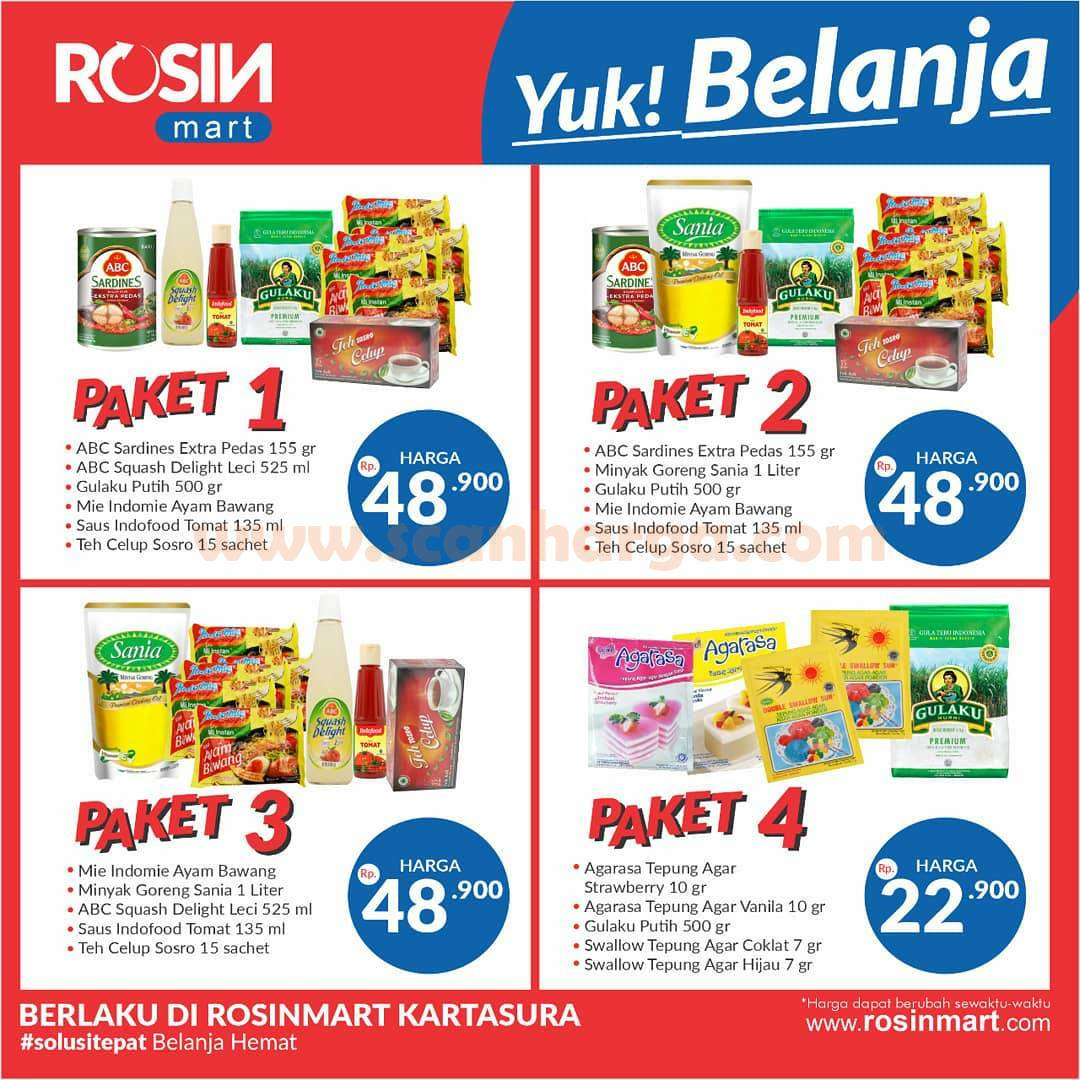 Katalog Rosin Mart Promo Paket Sembako Murah November 2020