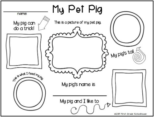 Classroom Freebies: Writing About Pigs