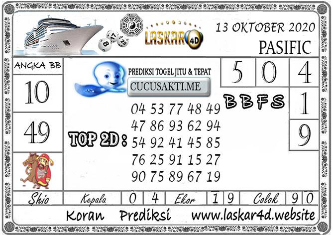 Prediksi Togel PASIFIC LASKAR4D 13 OKTOBER 2020