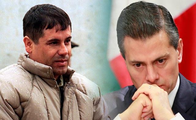"""La llamada del Chapo a Peña, """"Soy Joaquin Guzmán Loera, ¿Te suena el nombre, Cabr´n?, Desde este momento tu vida me la reservo yo"""