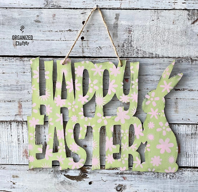 Painting & Stenciling A Dollar Tree Wooden Easter Sign