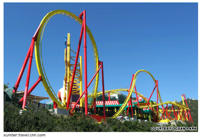 Roller coaster ocean park hongkong