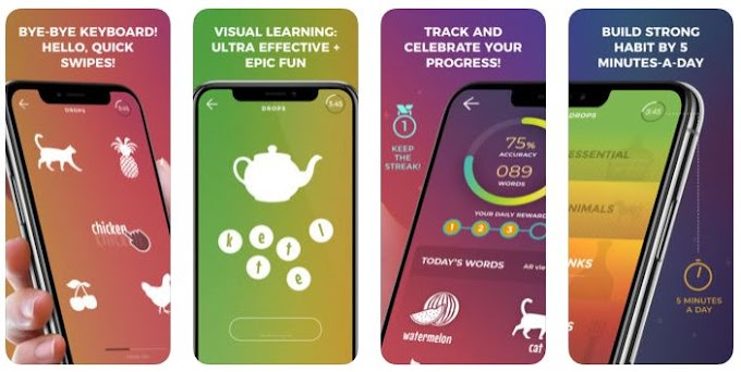 Drops - Δωρεάν μαθήματα 31 ξένων γλωσσών μέσα από παιχνίδια και εικόνες