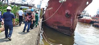 Perdana, Disnav Tanjung Priok Lakukan  Survey Mandiri Alur Pelayaran di Pelabuhan Marunda