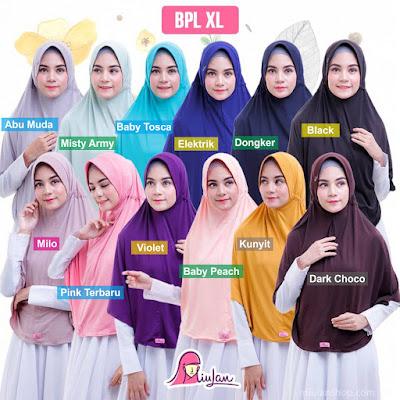 bergo syari miulan hijab plain laura xl ukuran jumbo