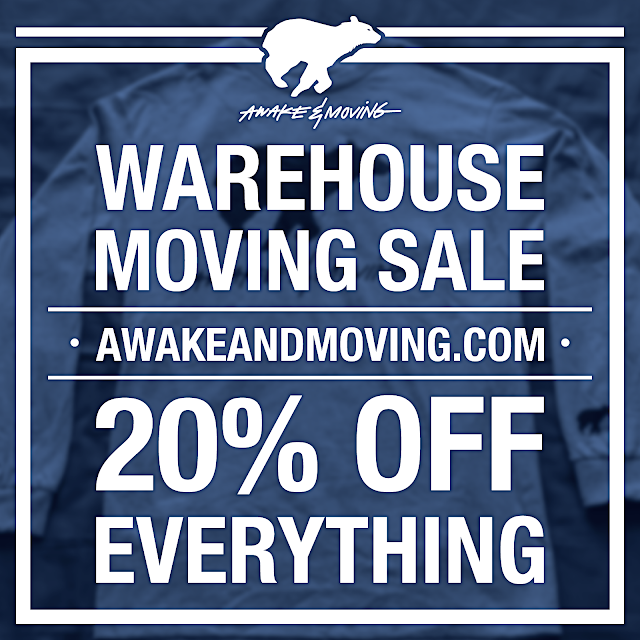 Awake & Moving warehouse moving sale 2016.