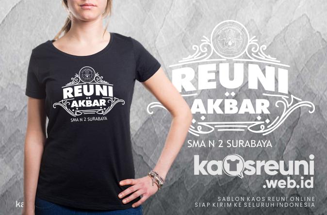 Contoh Desain Kaos Reuni Akbar SMA 2 Surabaya - Kaos Reuni