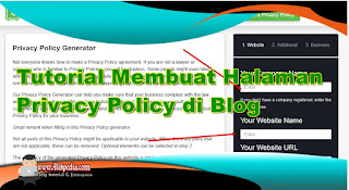 Memasang Halaman Disclaimer di Blog