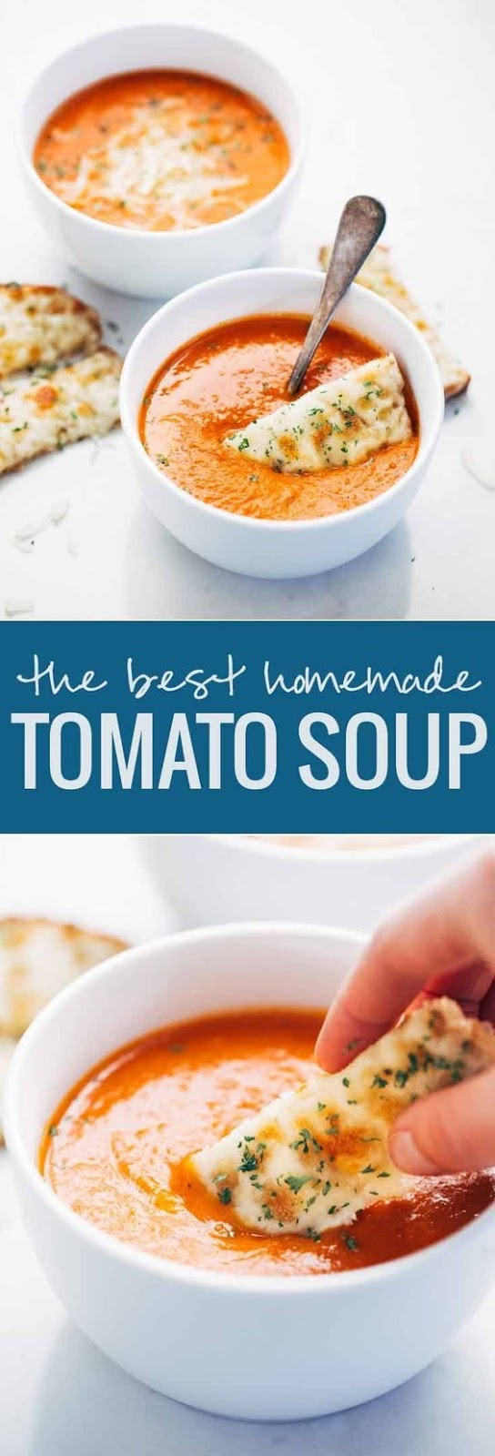 Just carrots, onions, garlic, tomatoes, broth, and bacon are all you need for homemade tomato soup. It's deliciously rich in flavor and comes together in just under an hour.