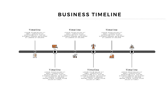 Free Horizontal Business Timeline PowerPoint Template Slide 1