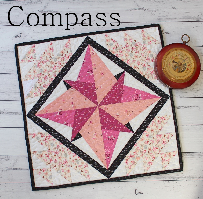 Compass Mini Quilt + Your Free June 2018 calendar