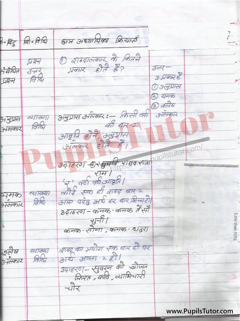 हिंदी पाठ योजना अलंकार के भेद