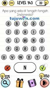 Level 143 jawaban apa yang ada ditengah-tengah indonesia brain test