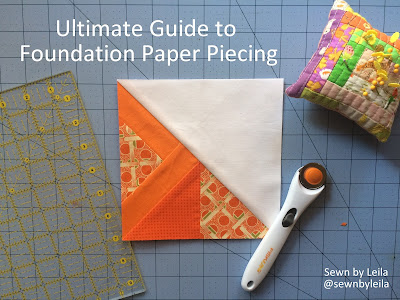 paper piecing, foundation paper piecing, beginning, easy, step by step, good visuals, hst, how to paper piece