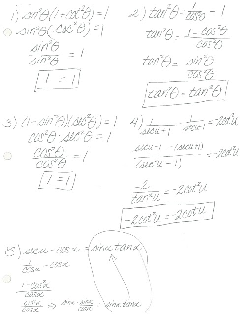 Math Classes Spring 2012: Pre-Calc Keys and Info posted