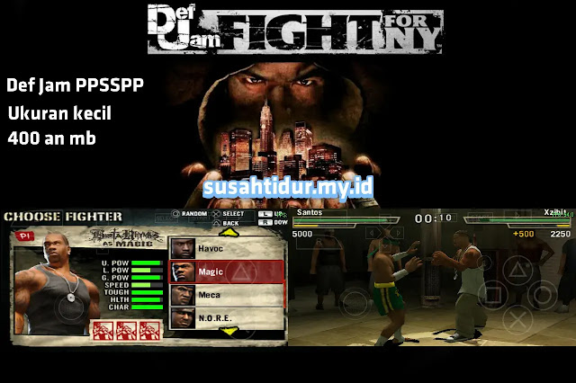 Def Jam Fight For New York PPSSPP ukuran kecil beserta save datanya