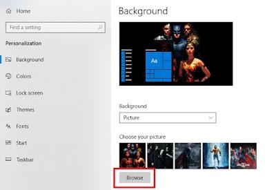 Sobat tinggal klik Browse untuk memilih gambar yang ingin Sobat gunakan.
