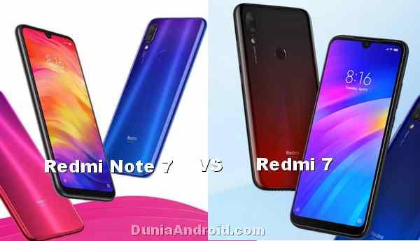 Beda Spesifikasi Redmi 7 dengan Redmi Note 7 serta Harganya