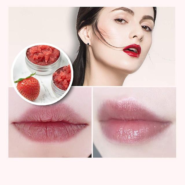 Exfoliant des lèvre à base des fraises et du sucre : Des lèvres hydratée et belles !