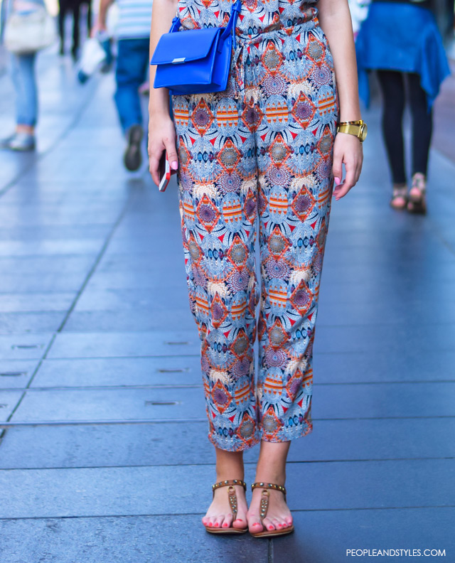 How to wear jumpsuite and thong sandals, street style summer outfit inspiration, Branka Kosović