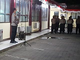 Kapolres Pelabuhan Makassar Pimpin Apel Operasi Aman Nusa II, Ini Arahannya