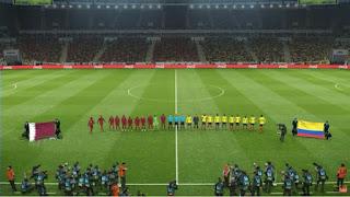 تشكيل منتخب قطر وكولومبيا مباشر عبر سوفت سلاش