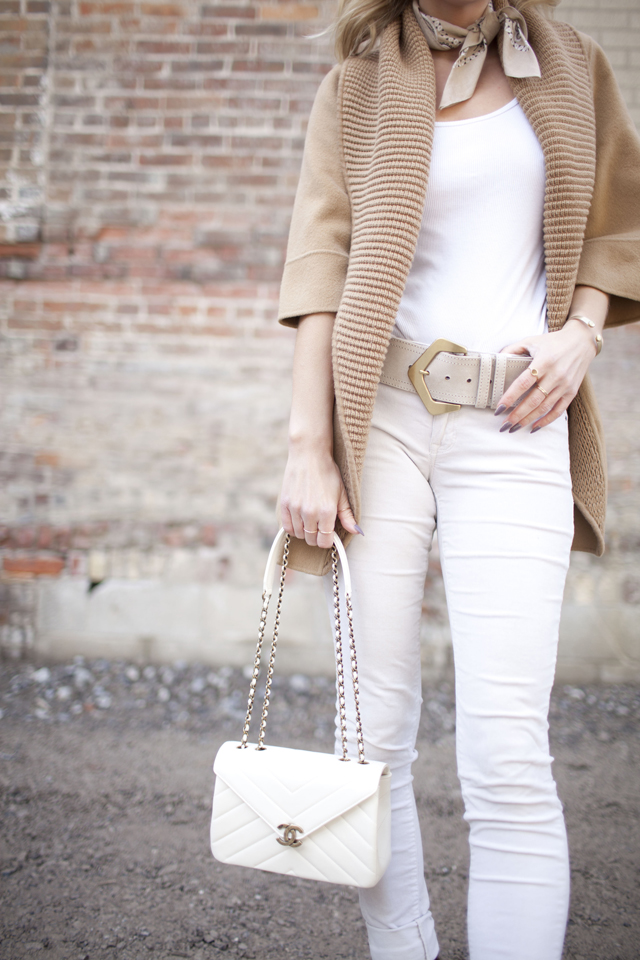 Chanel ivory flap bag