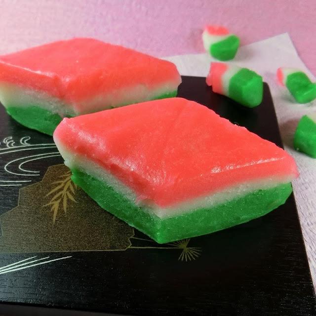 簡単!ひな祭りの彩りお菓子の定番・3色菱餅(ひしもち)の作り方