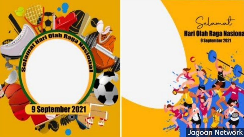 Kumpulan link Twibbon untuk membuat kartu ucapan Selamat Hari Olahraga Nasional/Haornas yang diperingati setiap 9 September